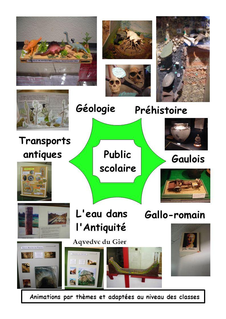 Géologie Préhistoire Transports antiques Public Gaulois scolaire