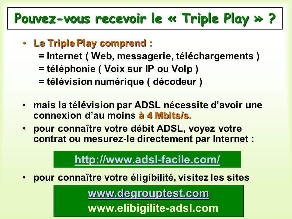 Pouvez-vous recevoir le « Triple Play »