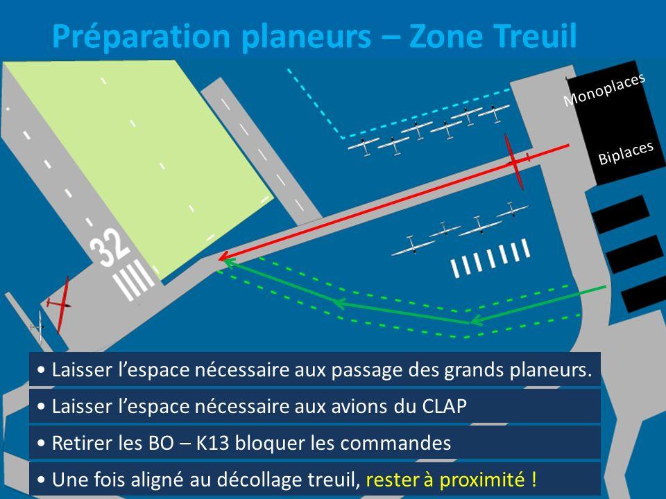 Préparation planeurs – Zone Treuil