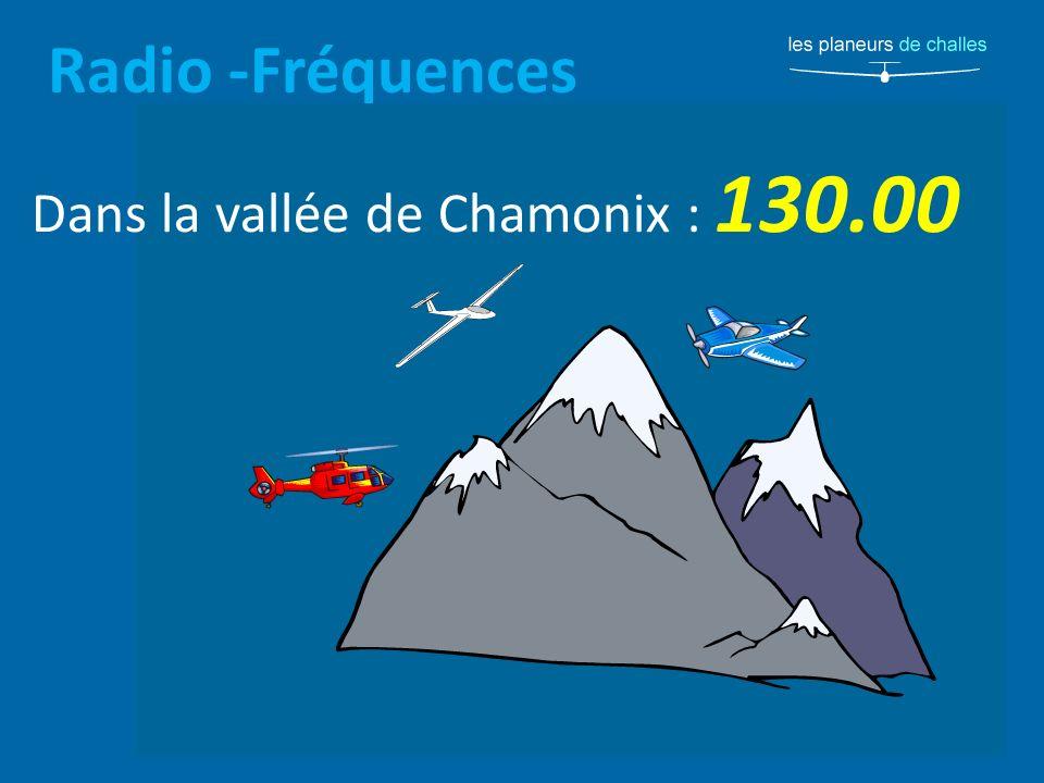 Radio -Fréquences Dans la vallée de Chamonix : 130.00