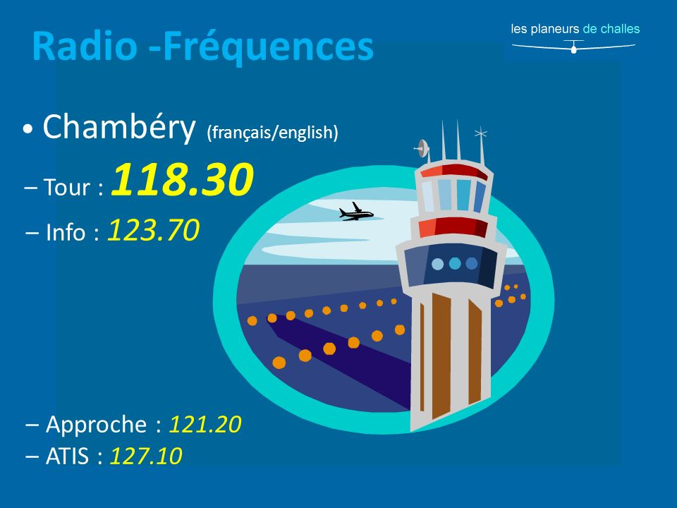 Radio -Fréquences • Chambéry (français/english) – Info : 123.70