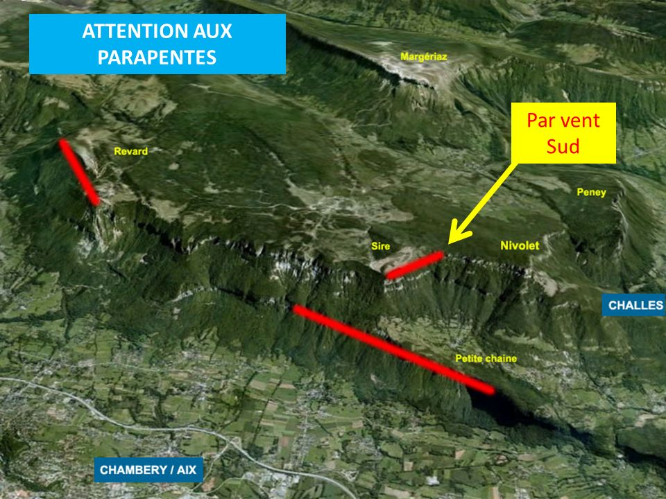 ATTENTION AUX PARAPENTES Par vent Sud