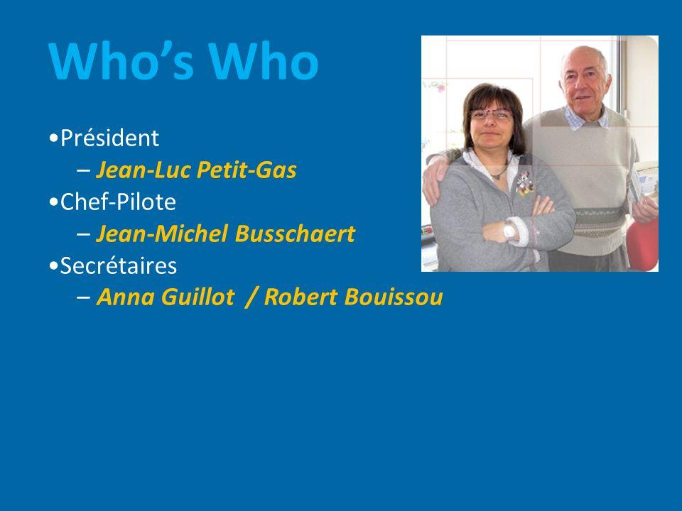 Who's Who •Président – Jean-Luc Petit-Gas •Chef-Pilote
