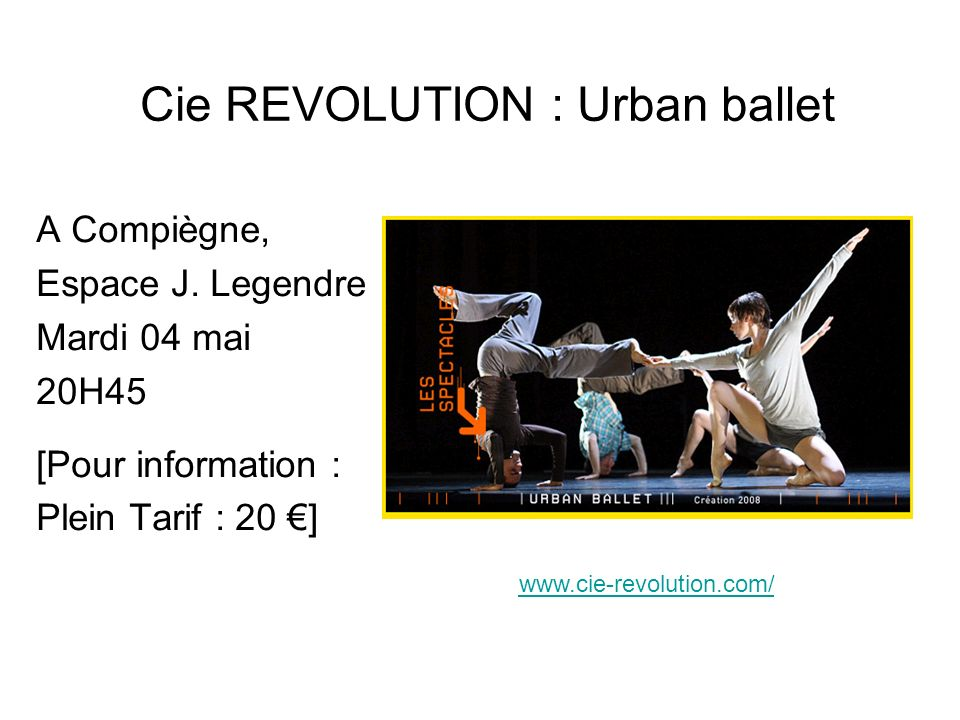 Cie REVOLUTION : Urban ballet