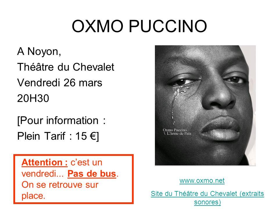 Site du Théâtre du Chevalet (extraits sonores)