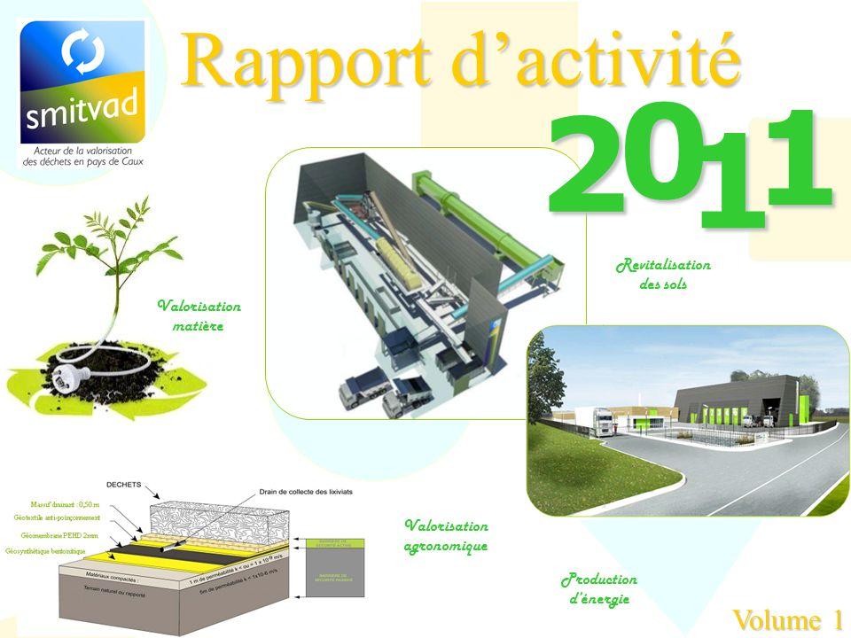 1 2 1 Rapport d'activité Volume 1 Revitalisation des sols