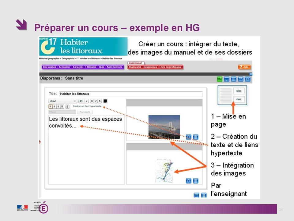Préparer un cours – exemple en HG
