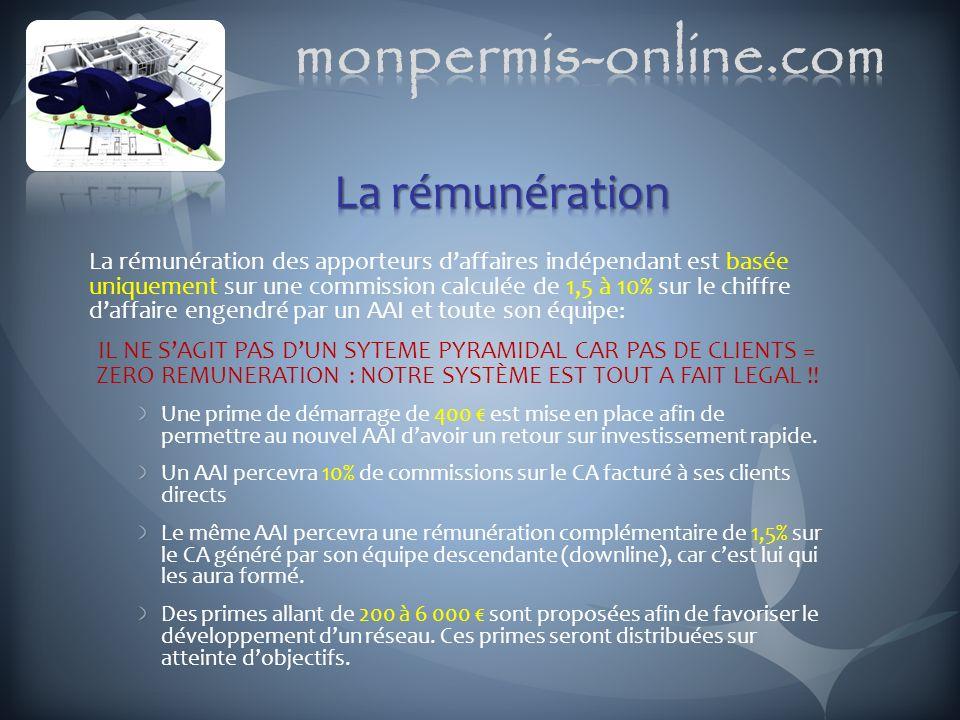 monpermis-online.com La rémunération