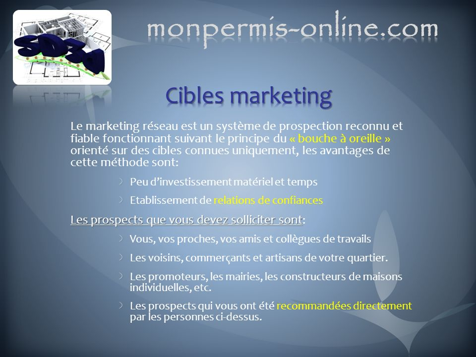 monpermis-online.com Cibles marketing
