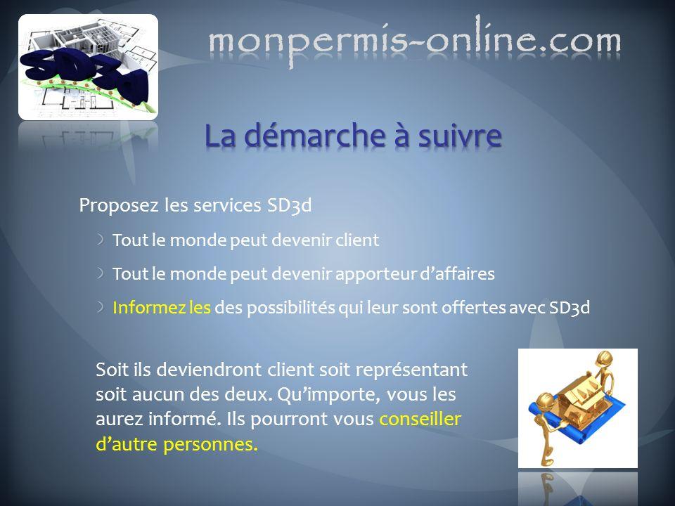 monpermis-online.com La démarche à suivre Proposez les services SD3d