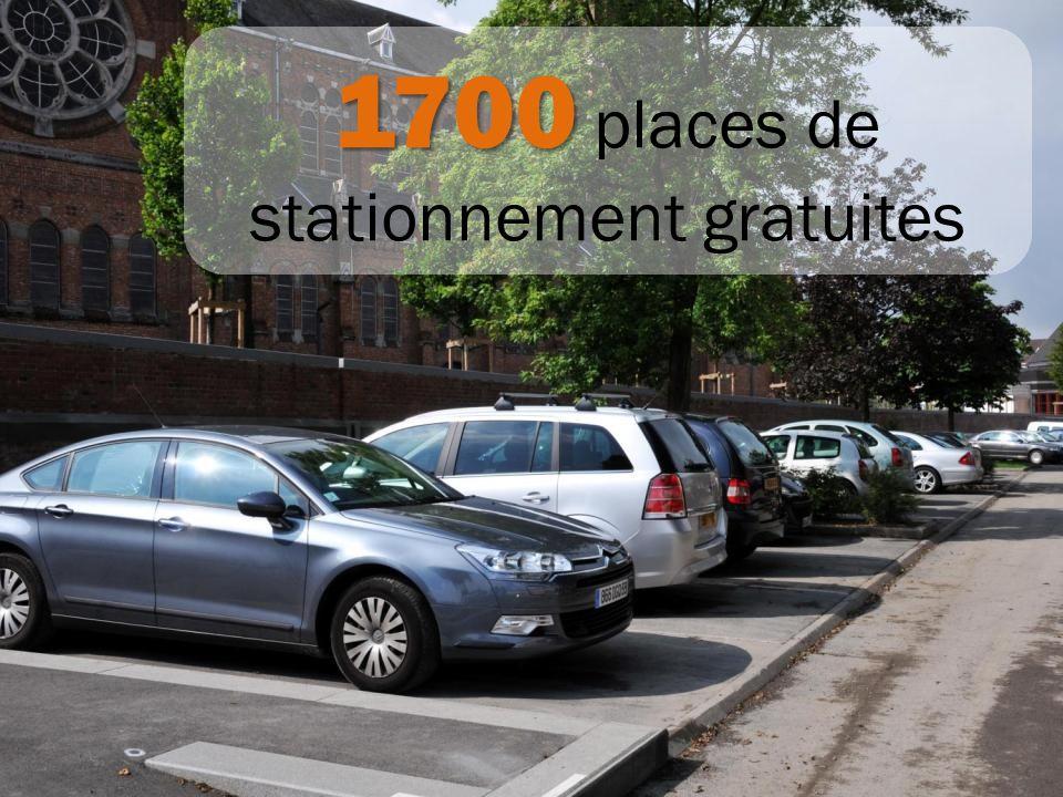 1700 places de stationnement gratuites