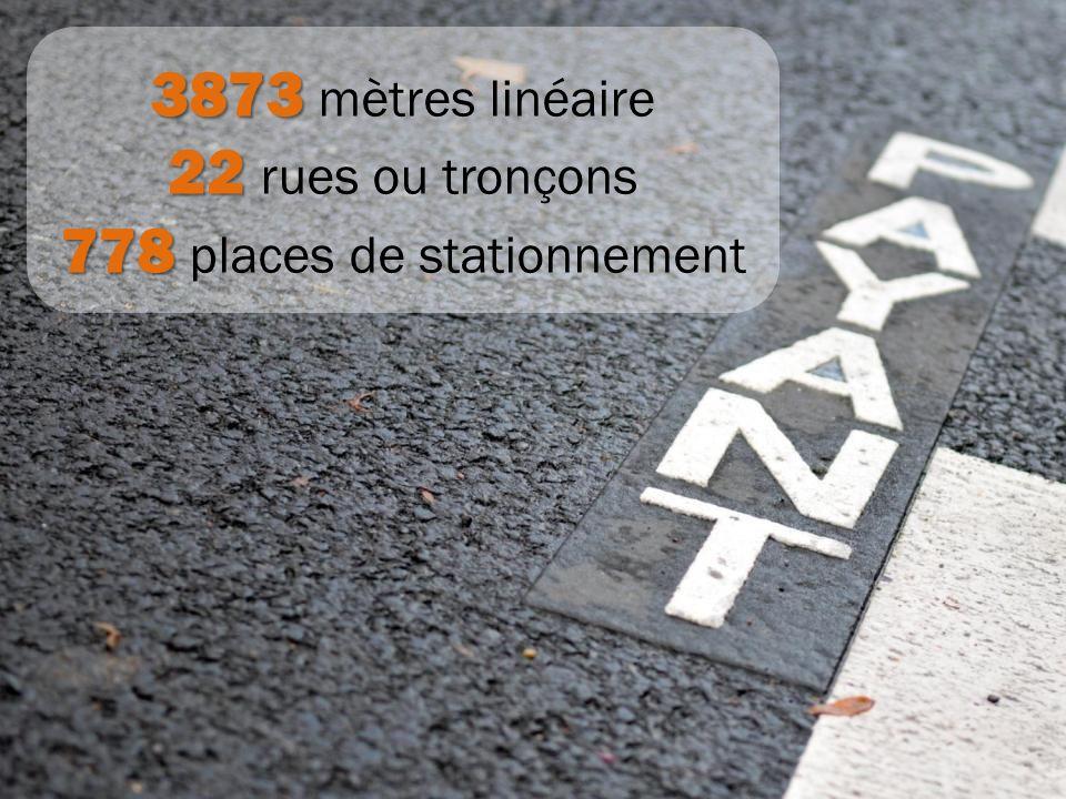 778 places de stationnement