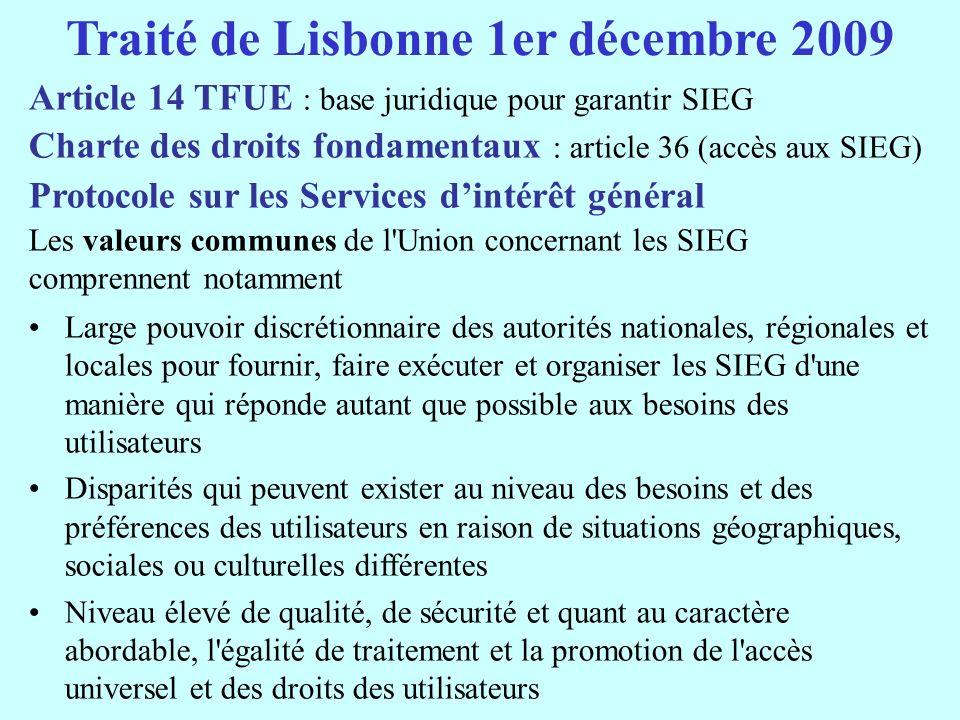 Traité de Lisbonne 1er décembre 2009