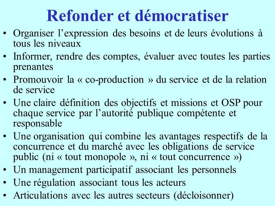 Refonder et démocratiser