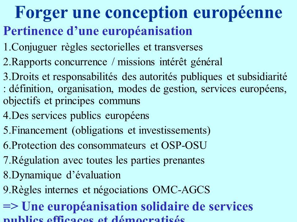 Forger une conception européenne