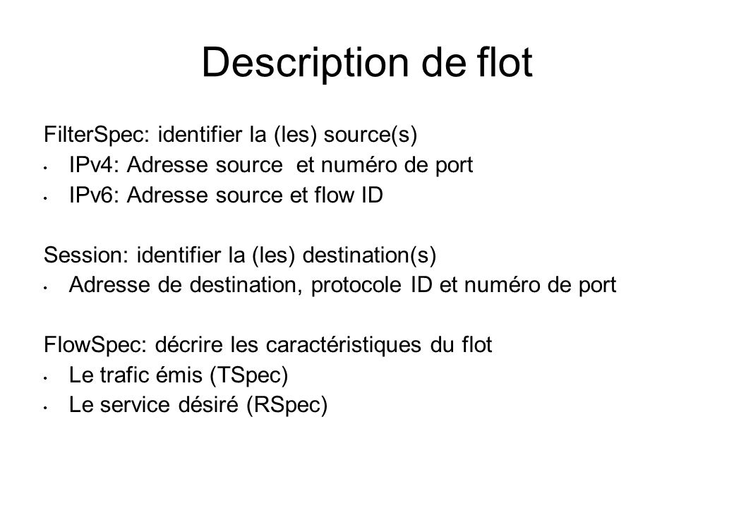 Description de flot FilterSpec: identifier la (les) source(s)