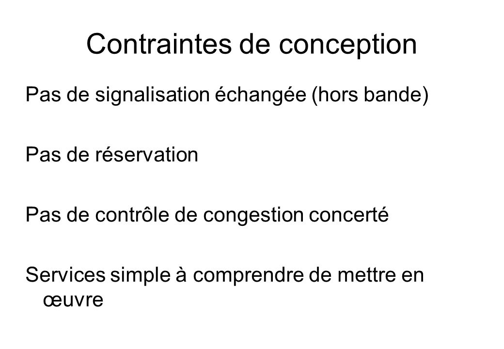 Contraintes de conception
