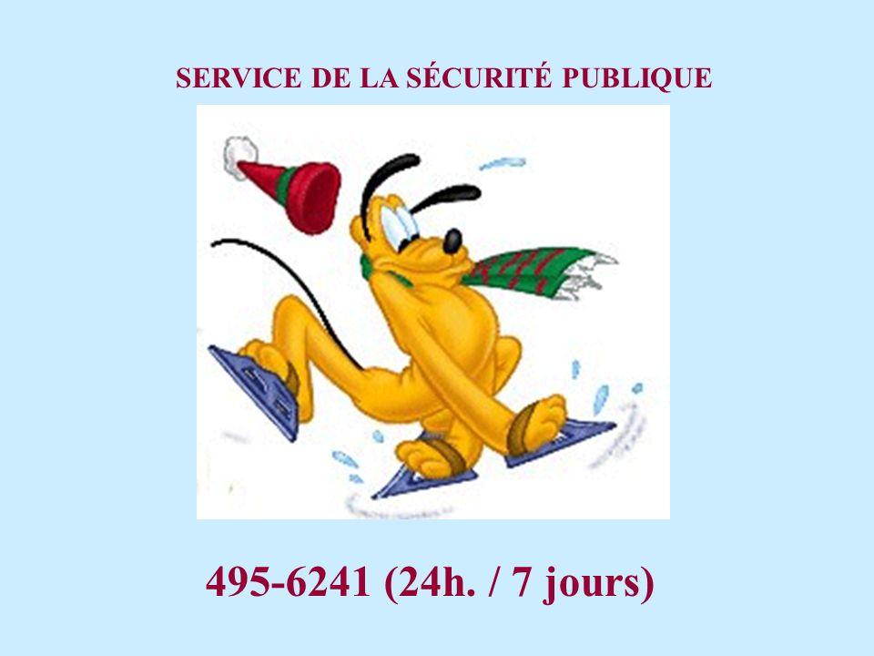 SERVICE DE LA SÉCURITÉ PUBLIQUE
