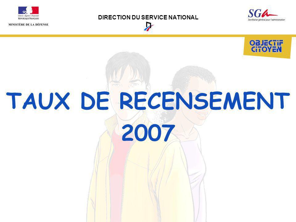 TAUX DE RECENSEMENT 2007