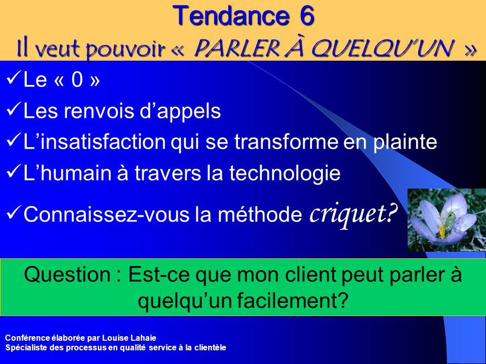Tendance 6 Il veut pouvoir « PARLER À QUELQU'UN »