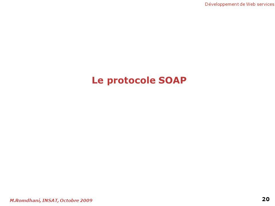 Le protocole SOAP