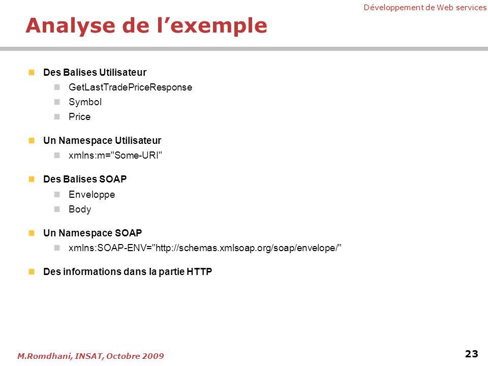 Analyse de l'exemple Des Balises Utilisateur GetLastTradePriceResponse