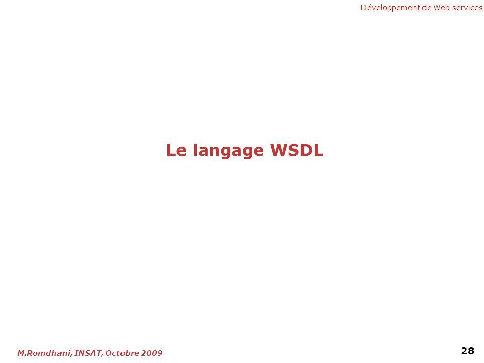 Le langage WSDL