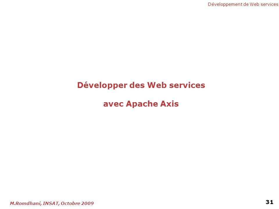 Développer des Web services avec Apache Axis