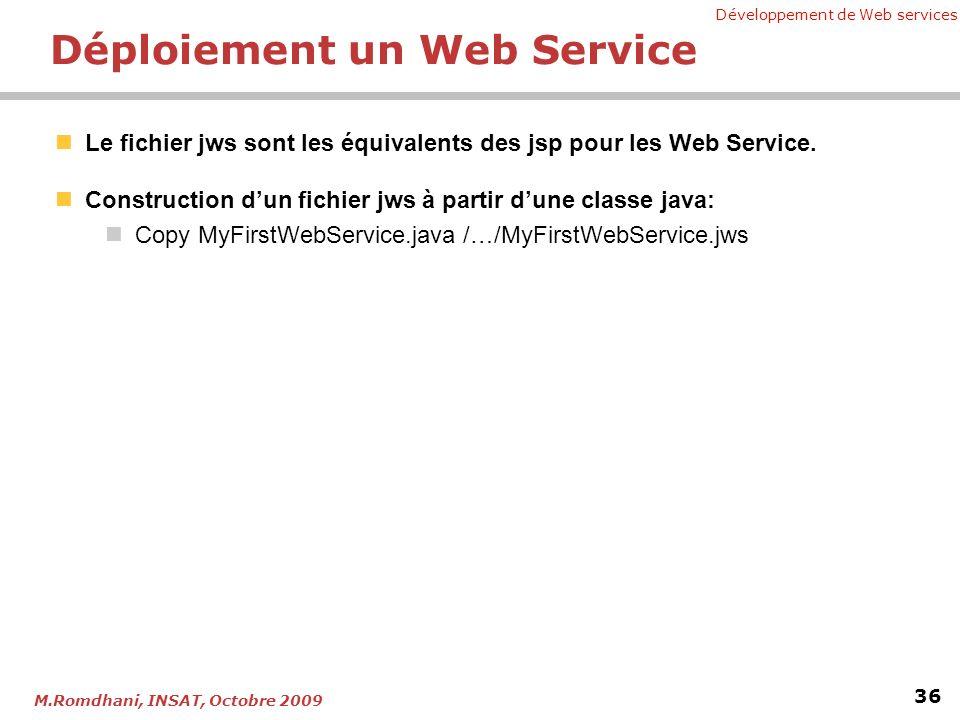 Déploiement un Web Service