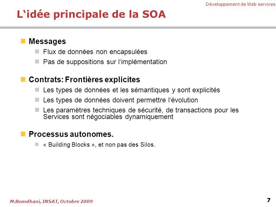 L'idée principale de la SOA