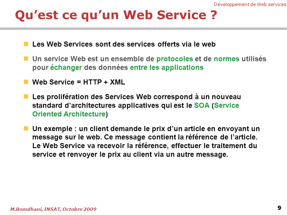 Qu'est ce qu'un Web Service