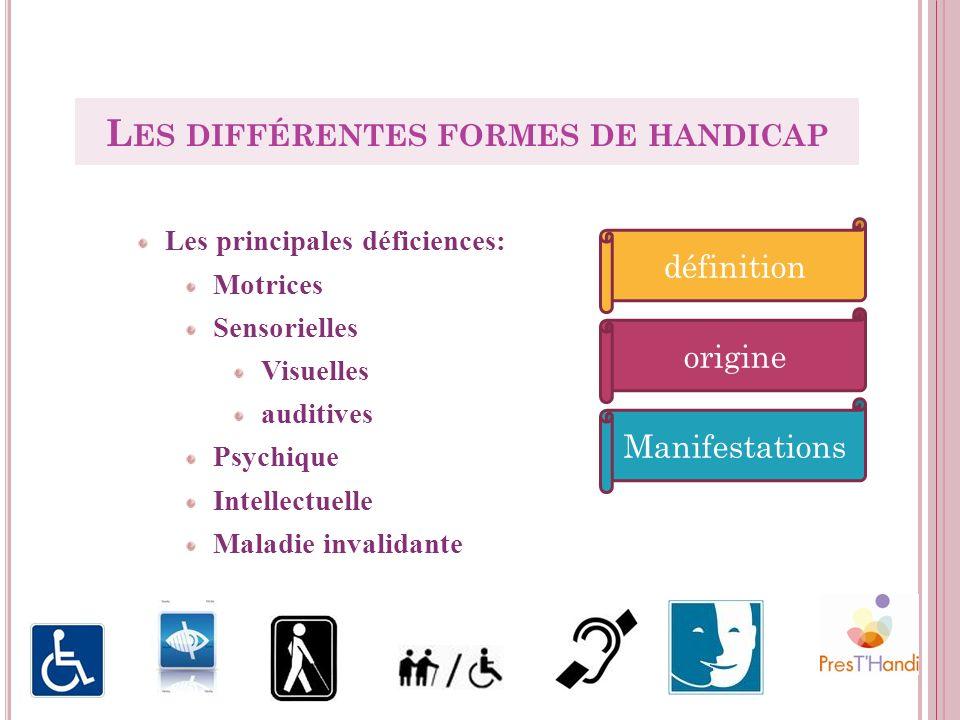 Les différentes formes de handicap