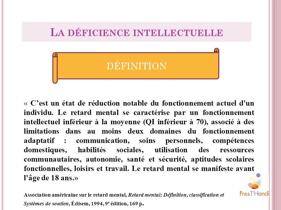 La déficience intellectuelle