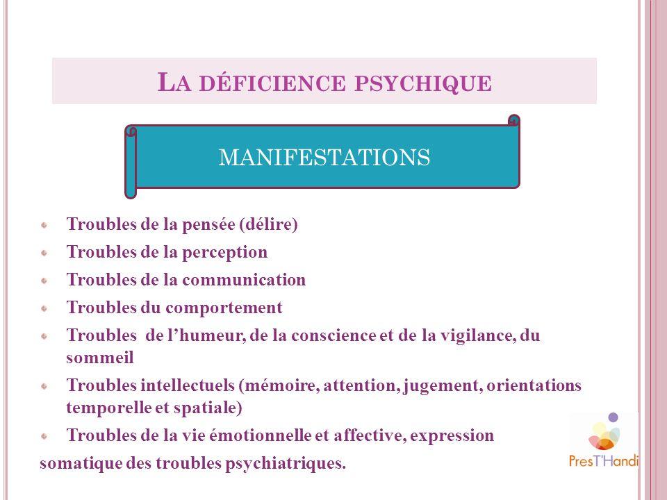 La déficience psychique