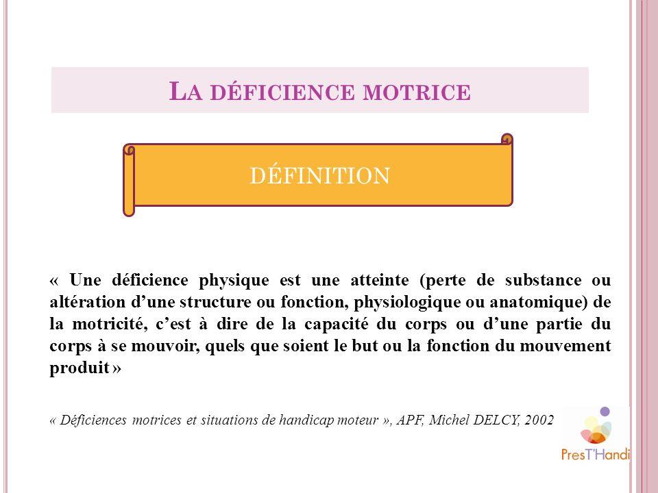 La déficience motrice définition