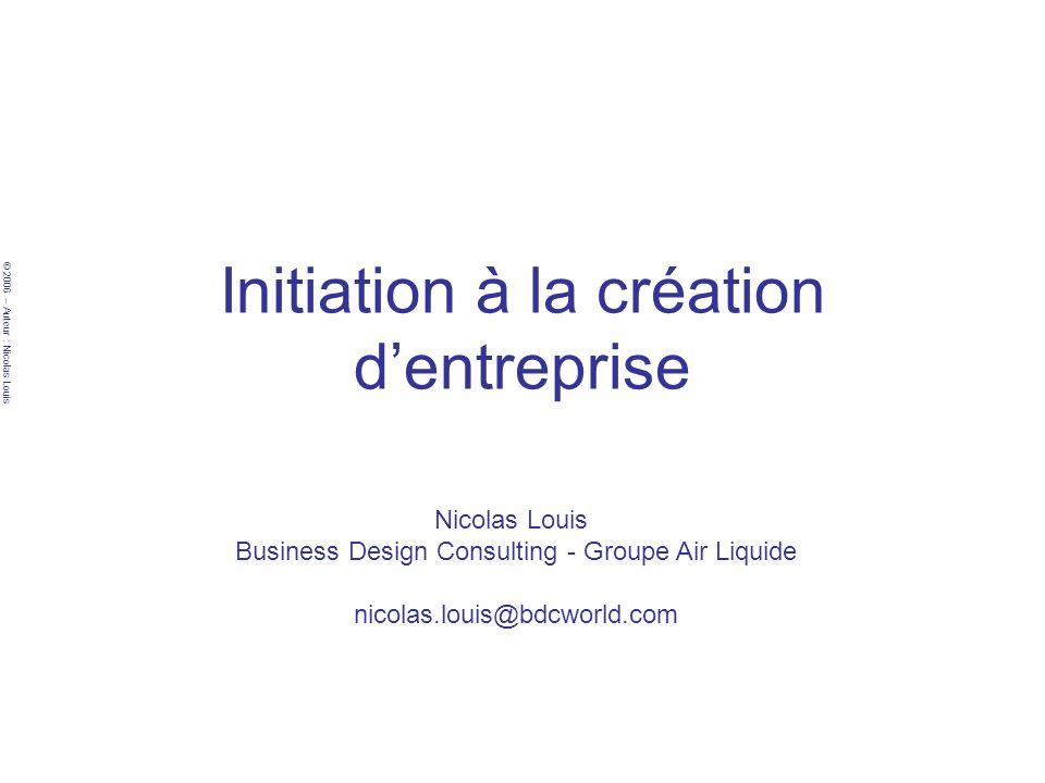 Initiation à la création d'entreprise