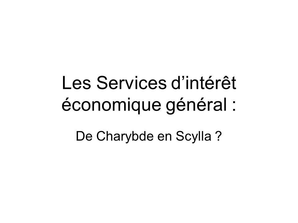 Les Services d'intérêt économique général :