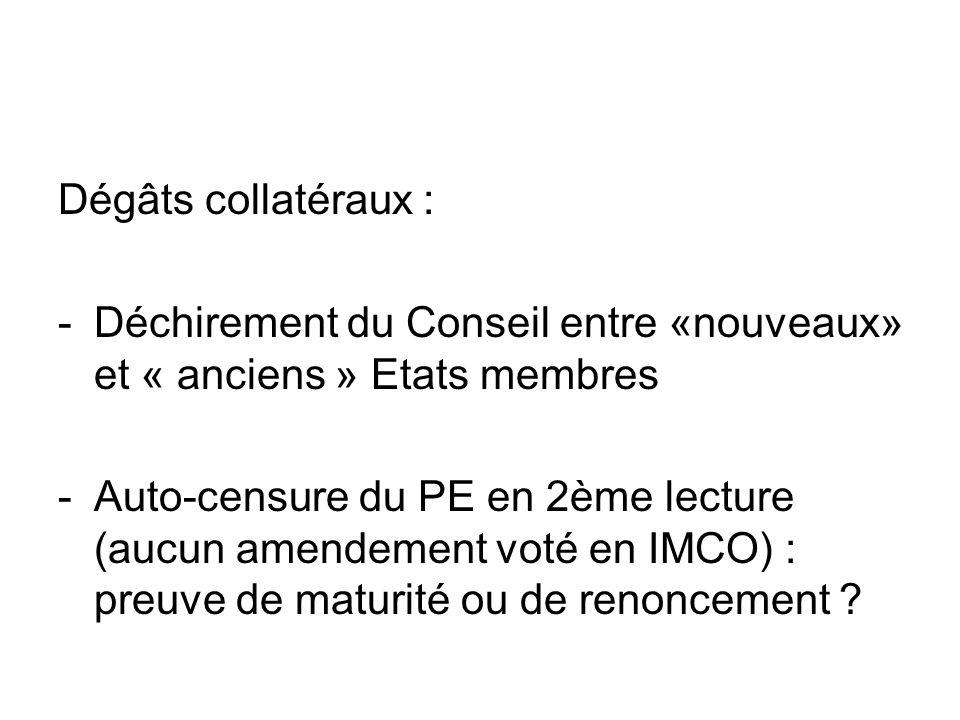 Dégâts collatéraux : Déchirement du Conseil entre «nouveaux» et « anciens » Etats membres.