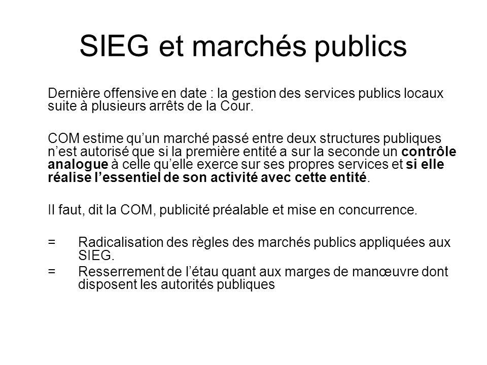 SIEG et marchés publics