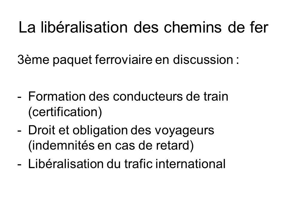 La libéralisation des chemins de fer