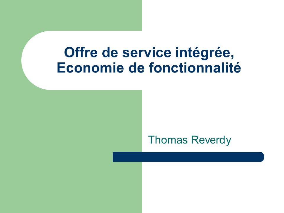 Offre de service intégrée, Economie de fonctionnalité