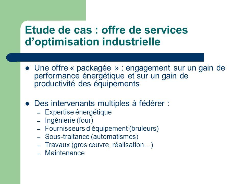 Etude de cas : offre de services d'optimisation industrielle