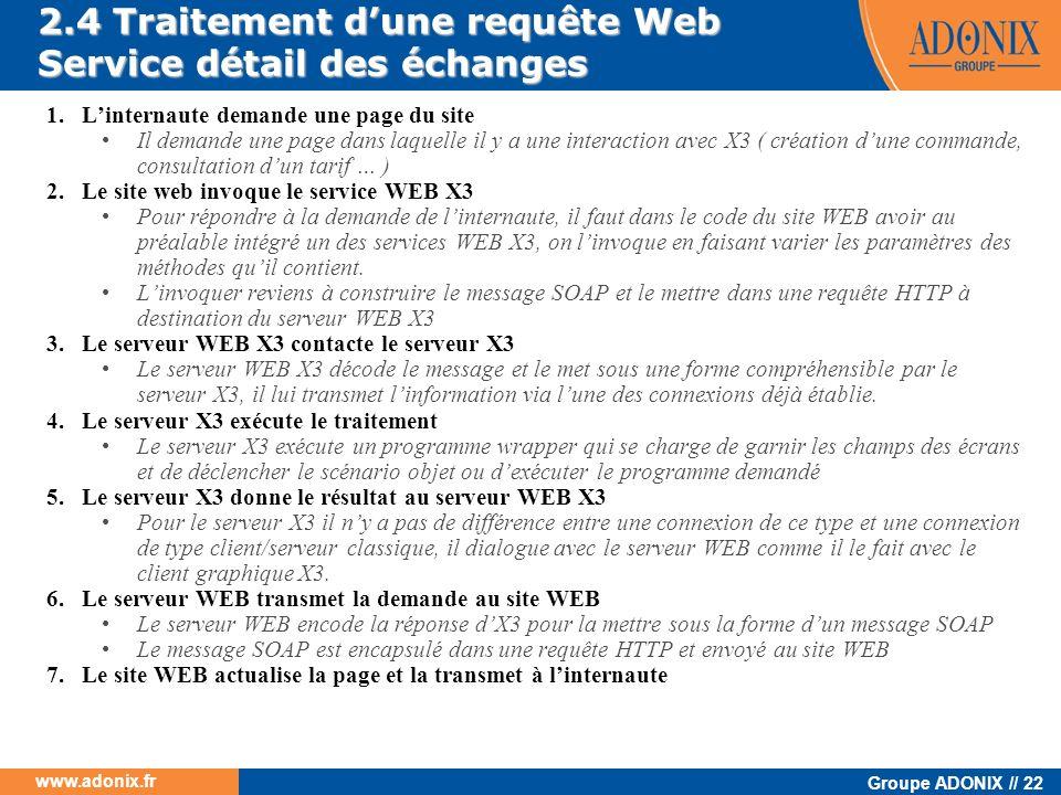 2.4 Traitement d'une requête Web Service détail des échanges