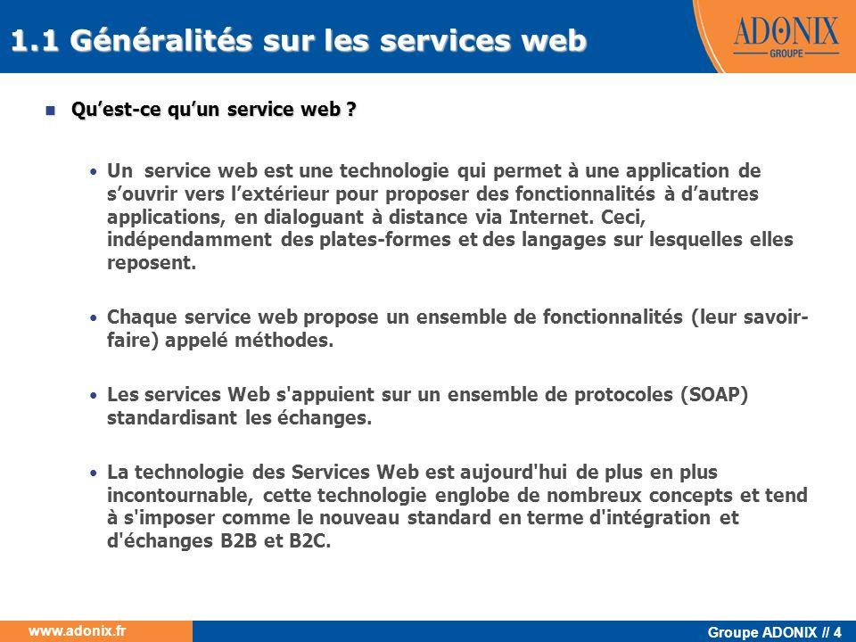 1.1 Généralités sur les services web