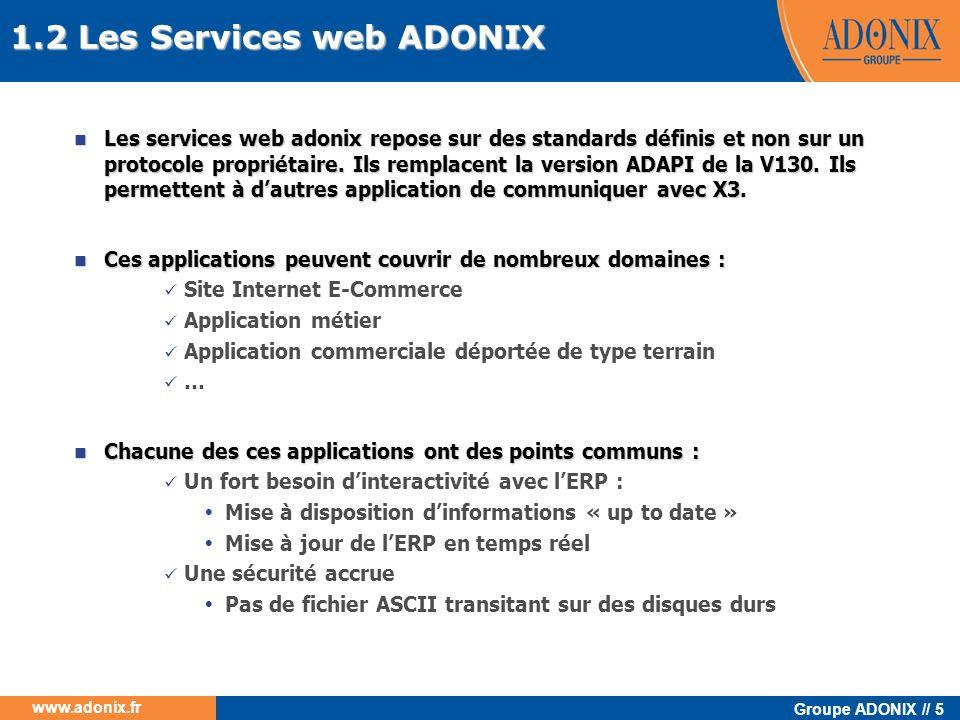 1.2 Les Services web ADONIX