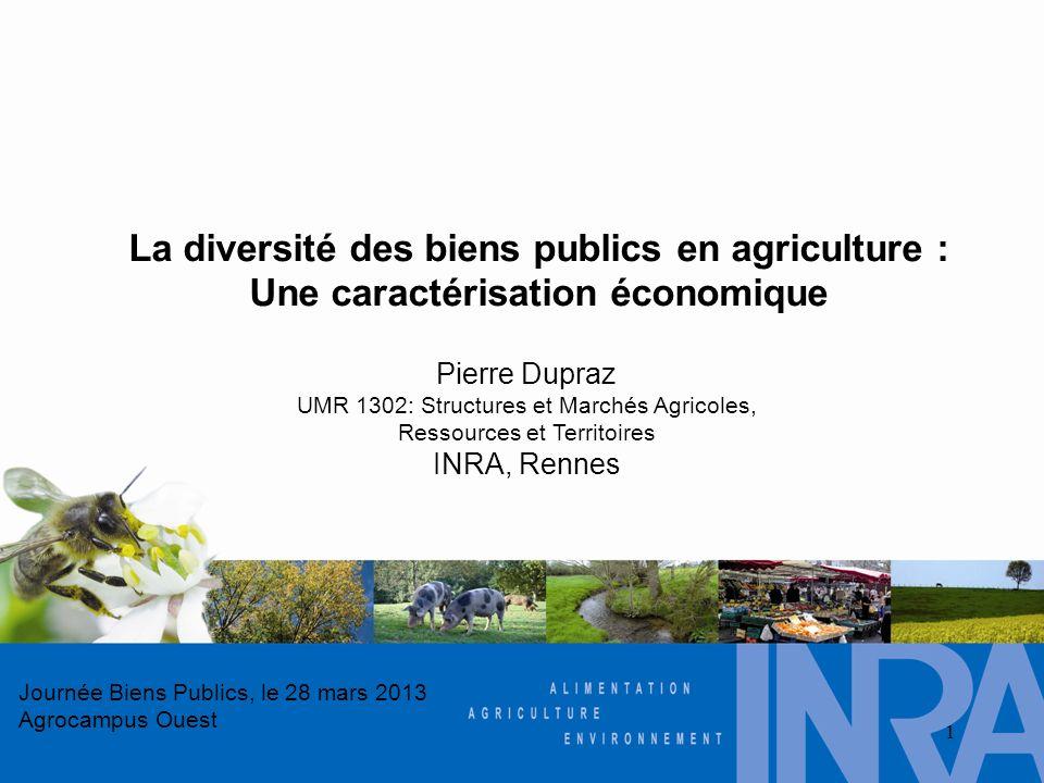 La diversité des biens publics en agriculture :