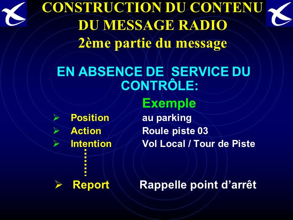 CONSTRUCTION DU CONTENU DU MESSAGE RADIO 2ème partie du message