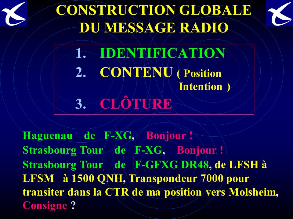 CONSTRUCTION GLOBALE DU MESSAGE RADIO