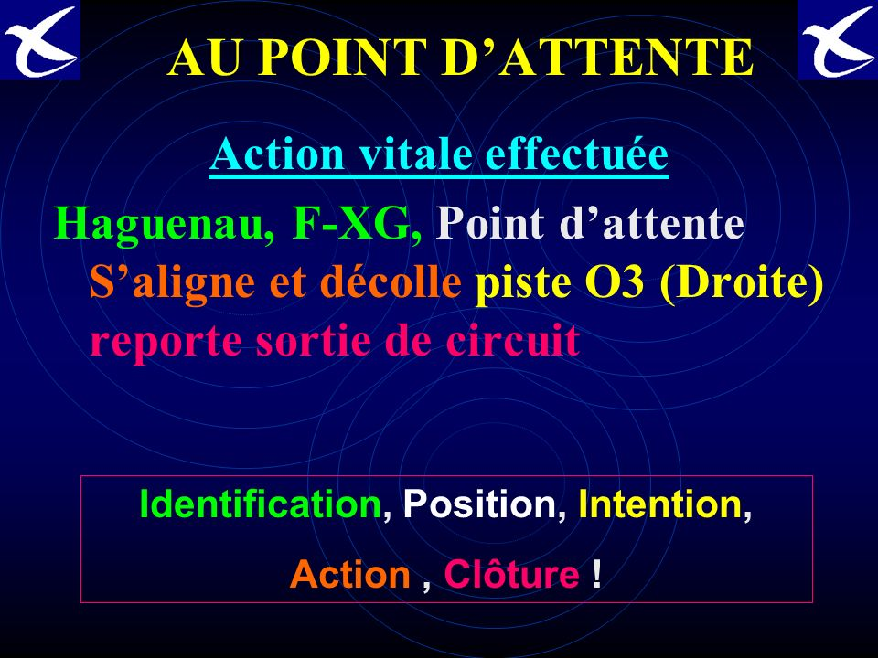 Action vitale effectuée Identification, Position, Intention,