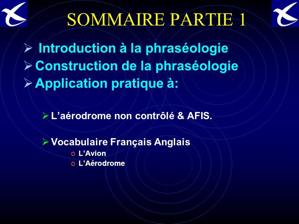 SOMMAIRE PARTIE 1 Introduction à la phraséologie